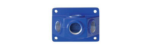 Wandverteilerdose blau 3 x ½ Abgang