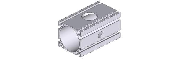 Aluminium Profilrohr