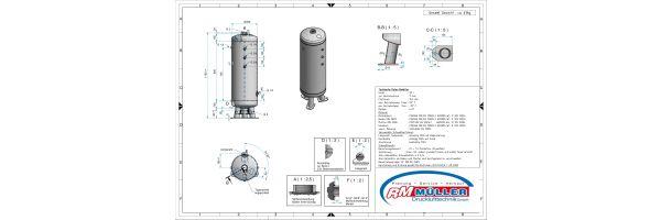 Druckluftbehälter stehend 11 bar verzinkt