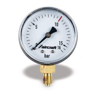 """Manometer Ø 50 mm ¼"""" seitlich, 10 bar"""