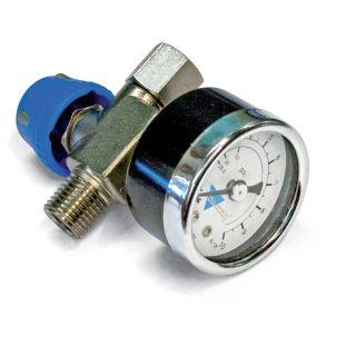 Inline Druckregler mit Manometer