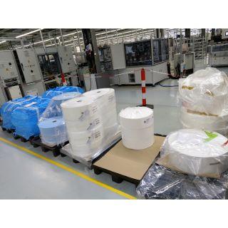 Weißer Vließstoff 500 qm