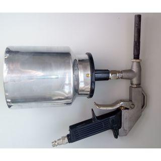 Sandstrahlpistole aus Aluminium für Druckluft - Abverkauf