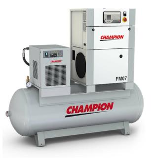 Champion Kompressor FM7/CT/270 7,5 kW 7 bar mit Druckluftbehälter + Kältetrockner