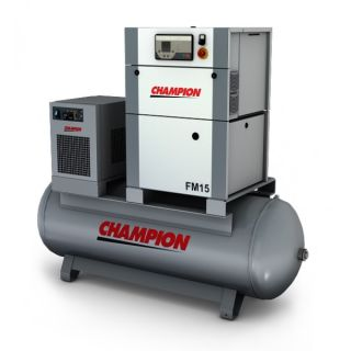 Champion Kompressor FM11/CT/500 11 kW 13 bar mit Druckluftbehälter + Kältetrockner